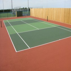 Tennis Court Construction in Abergynolwyn 11