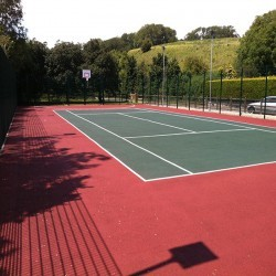 Tennis Court Construction in Abersoch 1