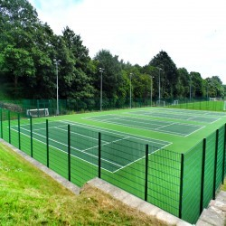 Tennis Court Construction in Aberchalder 2