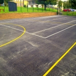 Line Marking Tennis Pitches in Abercynon 6