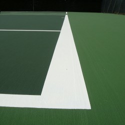 Line Marking Tennis Pitches in Ab Lench 12