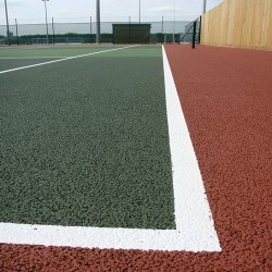 Line Marking Tennis Pitches in Abertrinant 2