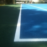 Line Marking Tennis Pitches in Ab Lench 8