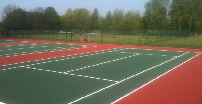 Tennis Court Construction in Abergynolwyn