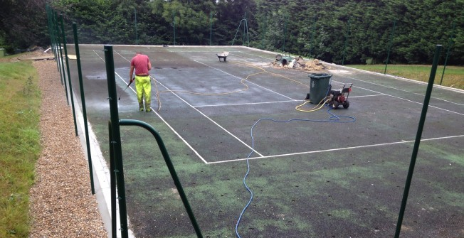 Tennis Court Repairs in Abererch