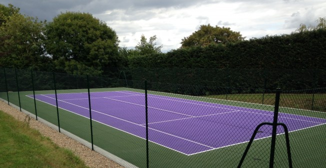 Tennis Court Dimensions in North Yorkshire