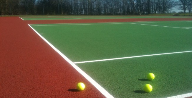 Tennis Surface Paint in Abertridwr