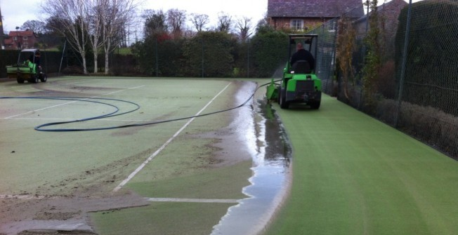 Tennis Surface Cleaning in Abbey Gate