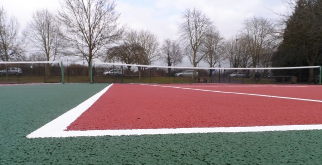 Tennis Facility Sizes in Worcestershire