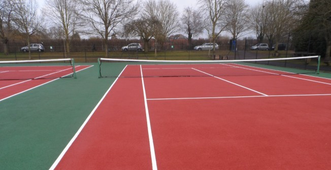 Tennis Facility Surfaces in Alderminster