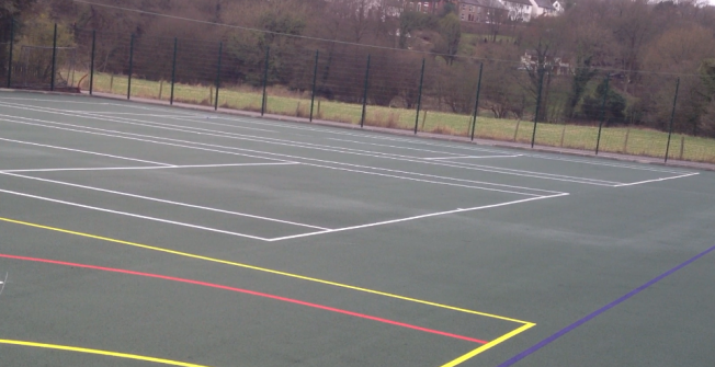 Sports Court Measurements in Abney