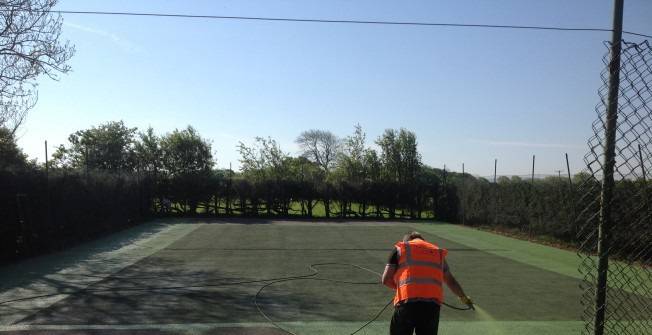 Sports Court Repainting in Powys