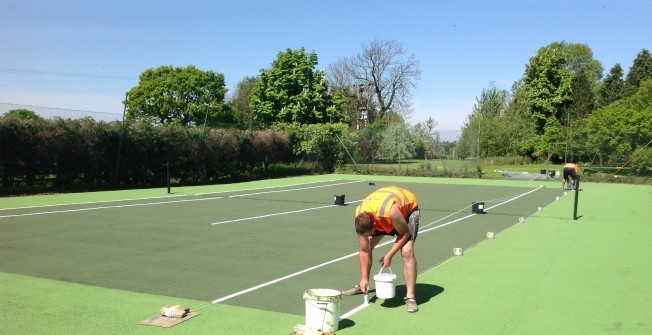Tennis Facility Installers in Ab Lench