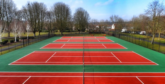 Tennis Facility Designs in Rhondda Cynon Taf