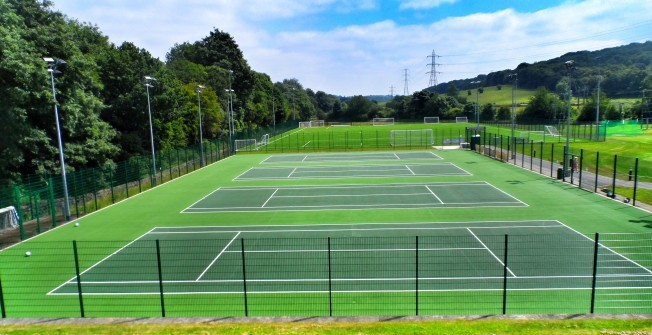 Tennis Court Colouring in Abertridwr
