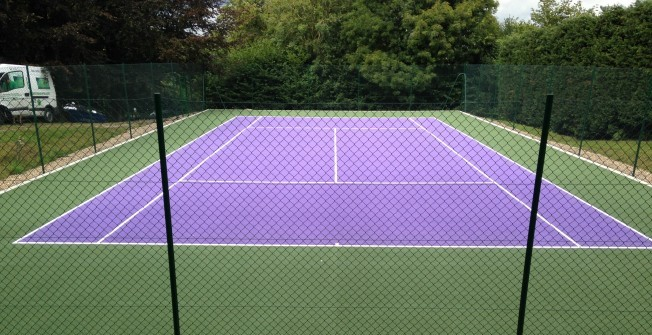 Tennis Line Painting in Abercynon